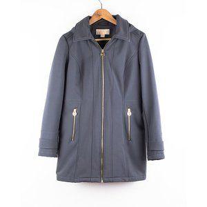 Michael Kors Missy Hooded Lined Rain Coat Gray S